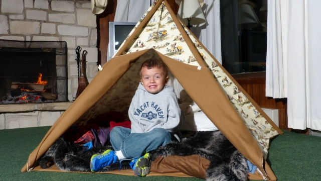 Boy in Tent Yacht Haven